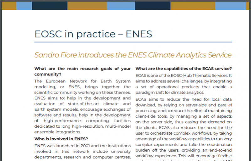 EOSC in Practice - ENES and EUDAT