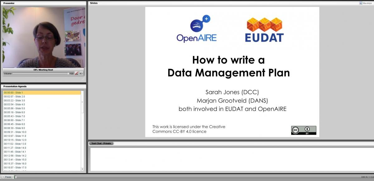 Webinar Eudat and Open AIRE July 14