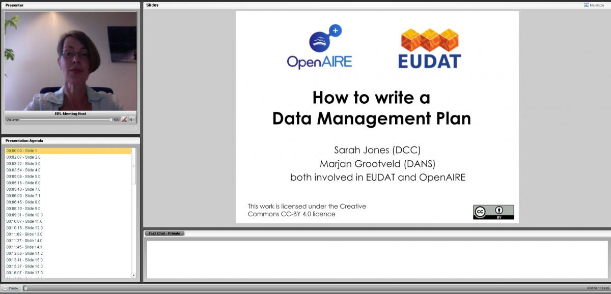 Eudat and OpenAIRE Joint Webinar July 7 2016